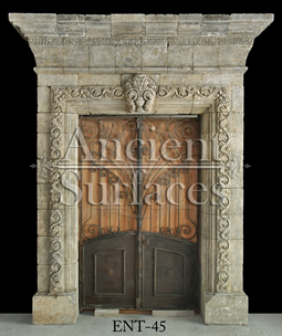Antique Italian entryway reclaimed and restored from circa 1600's