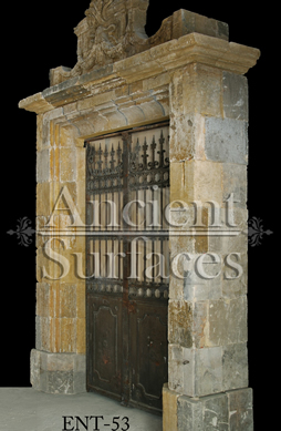 A Unique Ancient French entryway from the late 1600's reclaimed from a private French villa