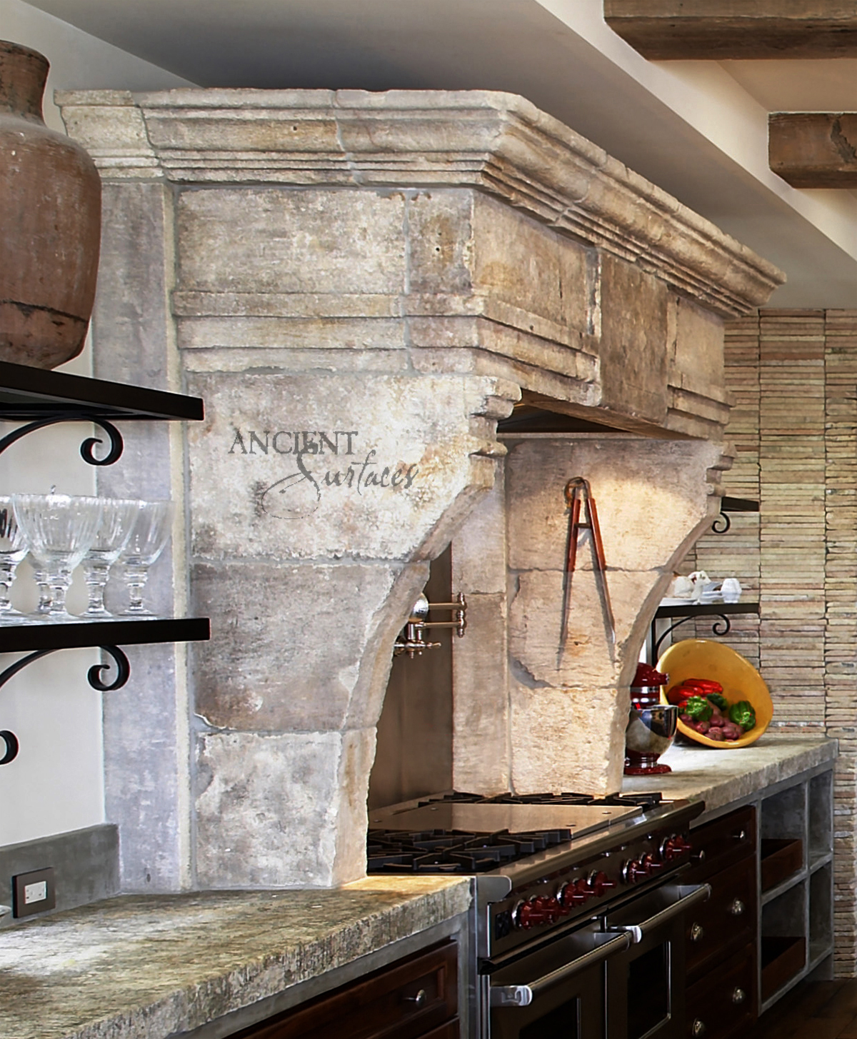 Our One Of A Kind Ancient Foundation Stone Counters That