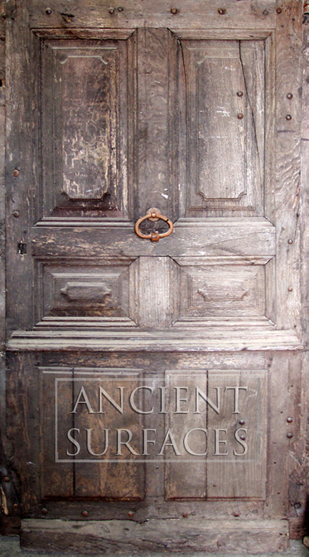 Ancient hand carved wooden door circa 18th century