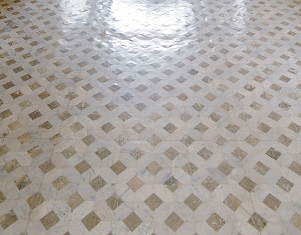 A Unique Collection Of Antique Reclaimed Marble Floor And