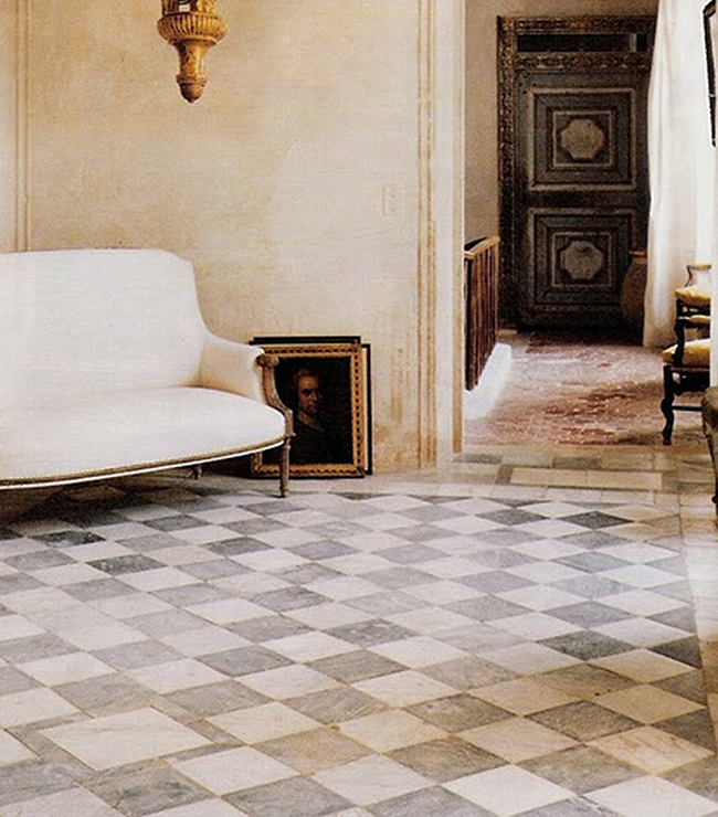 A Unique Collection Of Antique Reclaimed Marble Floor And Wall Tiles