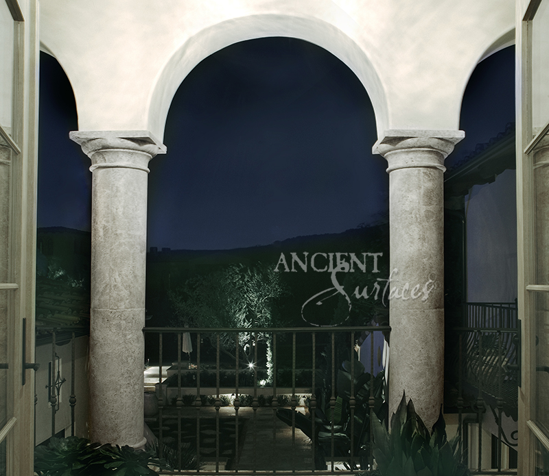 Old Stone Pillars : Antique stone columns by ancient surfaces