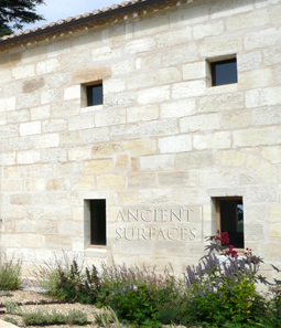 kronos limestone cladding on the outside walls of a French Bastide style farmhouse