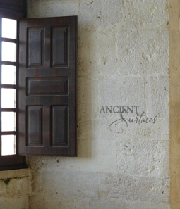kronos limestone cladding on the inside walls of a French Bastide style farmhouse