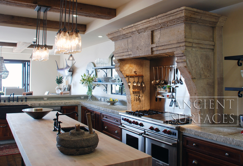 Kitchen Stone Range Hoods By Ancient Surfaces