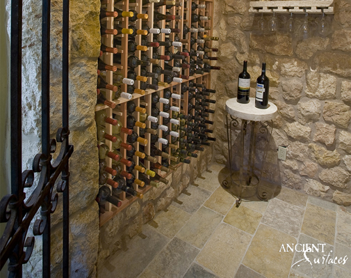 Antique Limestone Floors the Arcane Selection French Limestone in a Wine Cellar