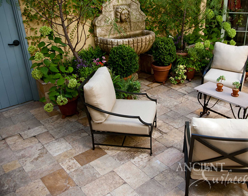 Antique Limestone Floors the Arcane Selection French Limestone in an Outdoor Patio