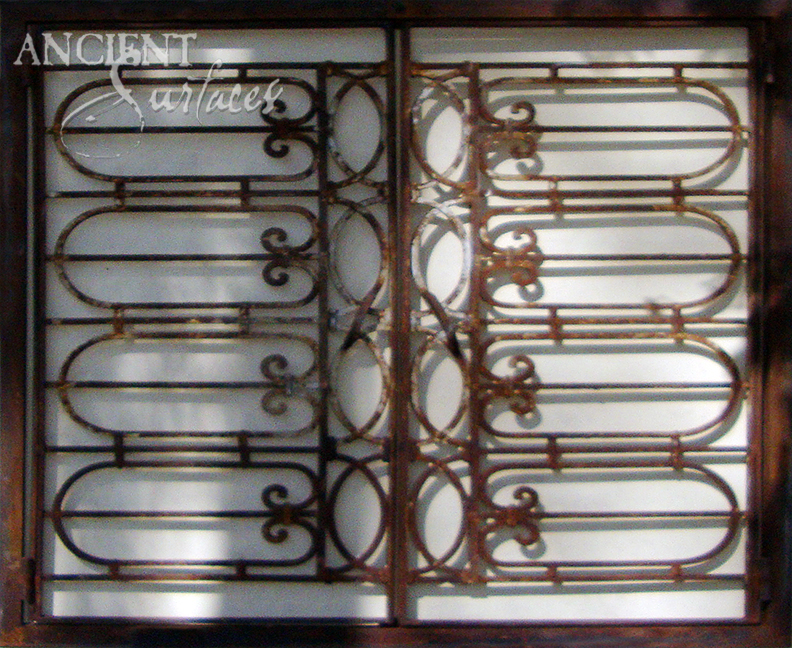 Antique Rough Iron Fireplace Gates By Ancient Surfaces