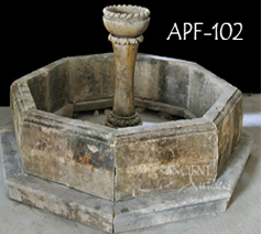 antique front yard pool water fountain