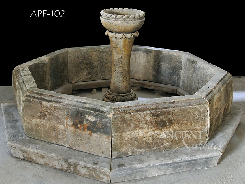 Visit our antique pool fountain selection and fall in love with this unique European heritage.