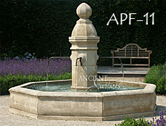 antique reclaimed stone fountain
