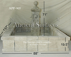 Antique stone water fountain