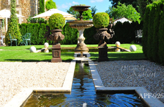 antique courtyard fountain out of stone