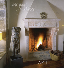 An elegant Italianate antique stone fireplace