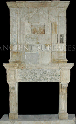Unique Collection Antique Stone Fireplace Mantles