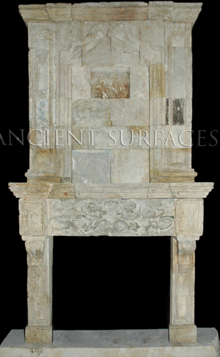 A Unique Collection Of Antique Stone Fireplace Mantles By