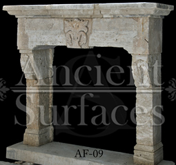 This unique limestone surround has a very nice keystone