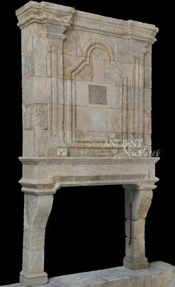 Antique Reclaimed Fireplace mantle with an overmantle