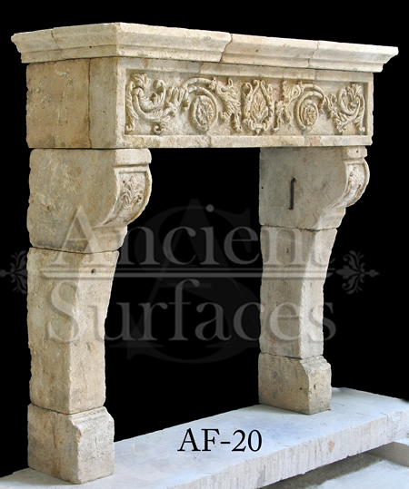Our One Of A Kind Stone Collection Of Antique Reclaimed Limestone Fireplace Mantles By Ancient