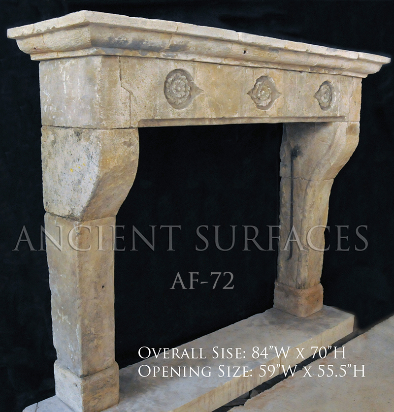 Our One Of A Kind Stone Collection Of Antique Reclaimed Limestone Fireplace M