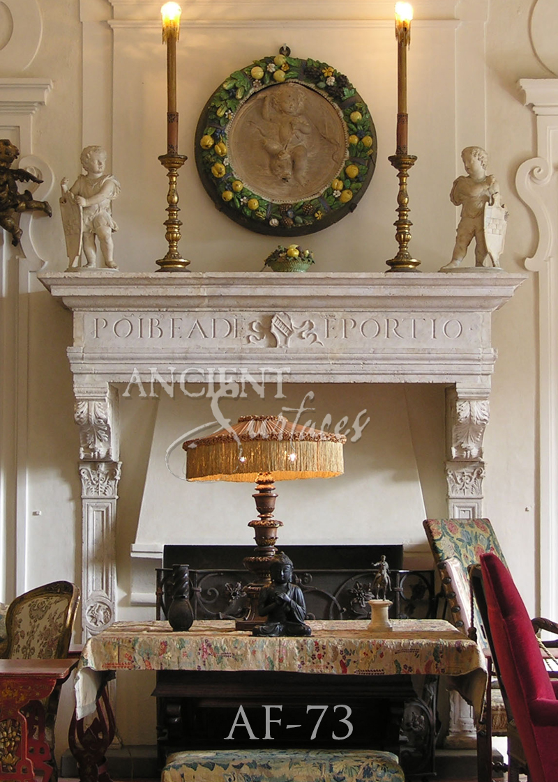 page 3 of our unique collection of antique stone fireplace mantles