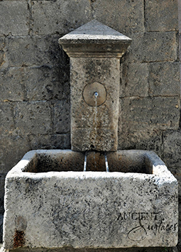 Very old 16th century reclaimed limestone wall fountain salvaged and restored back in 1993 available in stock. Provenance the south of France