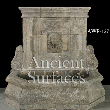 Page One Of Our Antique Limestone Wall Fountains By