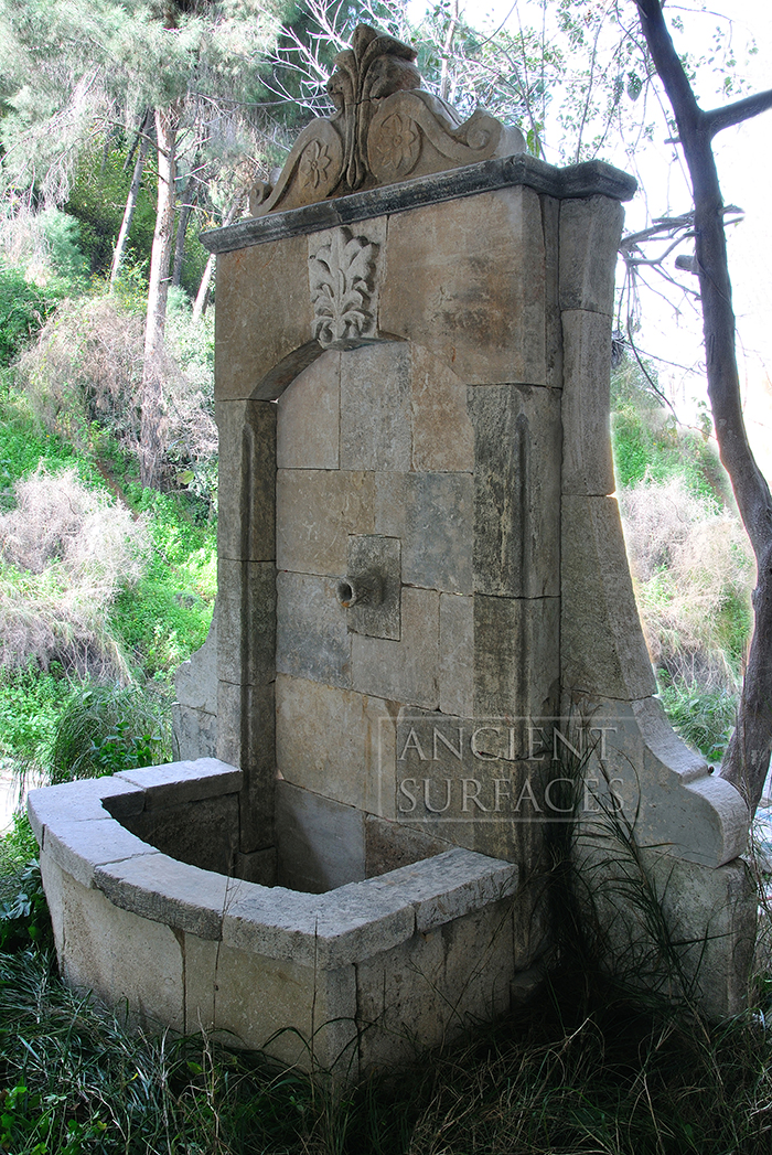Page Two of our Antique reclaimed Limestone Water Wall ... on Backyard Feature Walls id=37277