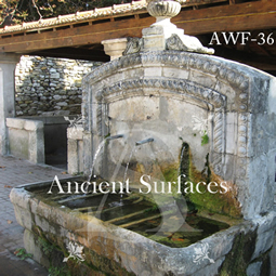 Antique reclaimed stone wall fountain from a private villa in the south west of France Cira 16th century