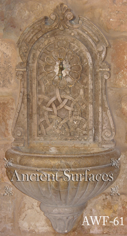 A rare Venetian era 16th century Italian wall fountain