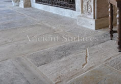 Antique reclaimed Biblos stone in a big size selection as shown installed in a tuscan villa