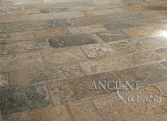 Ancient reclaimed Biblos Stone known as the Biblical Stone is installed in a $12 million home in Lido Island in CA