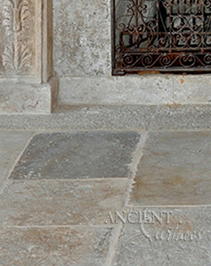 Ancient reclaimed Biblos Stone also named Biblical Stone is installed in the livig room of a home in Cupertino, CA