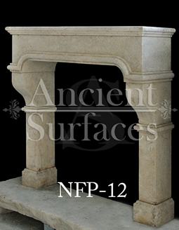 This fireplace is of a French medieval design from the 14th century its hand carved out of limestone by our master carvers