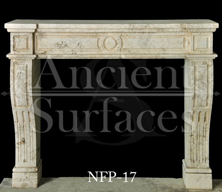 New Hand Carved Stone Fireplace Mantels out of French Limestone by
