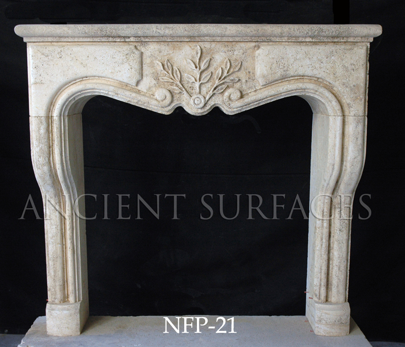 A Hand Carved Kitchen Hood Stone Surround Gothic Tudor Style Fireplace