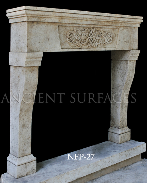New hand carved stone fireplace NFP-27