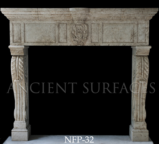 New hand carved stone fireplace NFP-32
