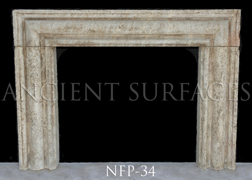 New hand carved stone fireplace NFP-34