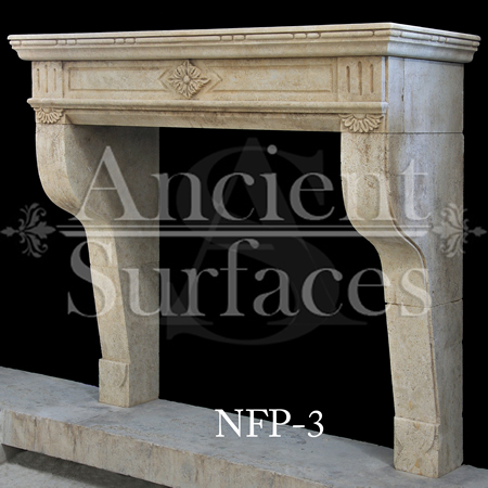 New Hand Carved Stone Fireplace Mantels Out Of French