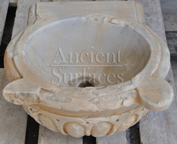 Antique Scaloped Marble Planter Sink