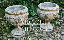 Antique Limestone Planters Pair