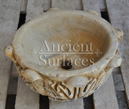 Antique Foliated Marble Planter Sink