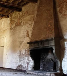 Antique reclaimed limestone fireplace mantel getting reclaimed