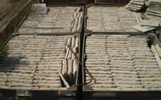 ancient reclaimed marble pavers packaged in a box ready to ship