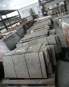 Antique stone slabs to be used for counted tops, vanity tops and bbq tops, as well as pool coping edges