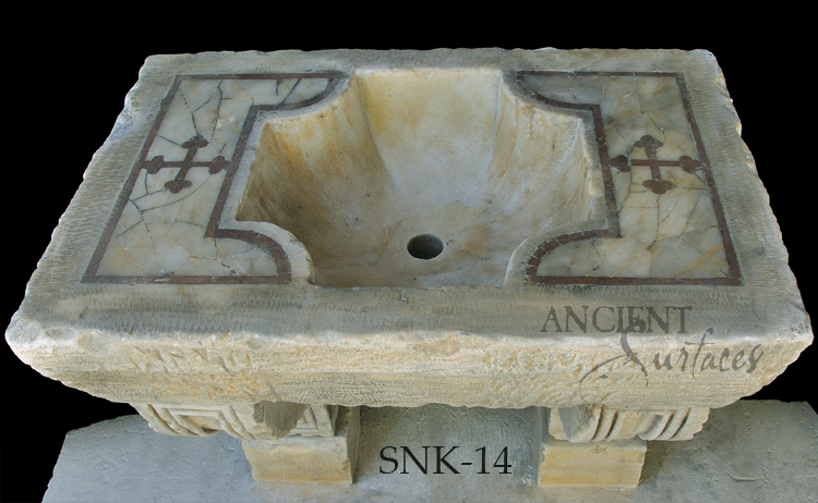 Ancient 16th Century Italian Renaissance Era Marble Inlayed Sink Restored  To Its Former Glory By Our ...