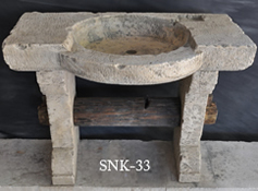 Antique reclaimed farmhouse trough sink hand carved back in the 16th century refurbished to accomodate any modern setting and application from a powder room to a BBQ preparation sink.