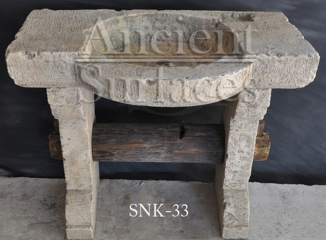 Reclaimed Stone Sink : Antique reclaimed farmhouse trough sink hand carved back in the 16th ...